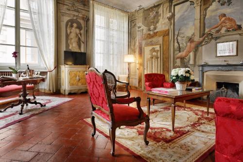 Zona de estar de Palazzo Niccolini al Duomo