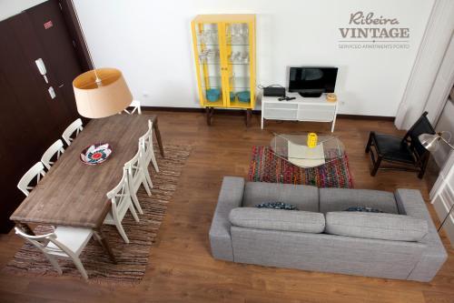 Zona de estar de RVA - Porto Central Flats