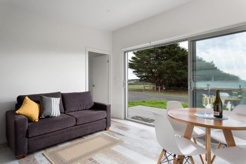 A seating area at Bimbadeen Phillip Island Farm Retreats