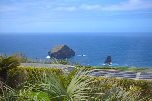 Uma vista do mar geral ou uma vista do mar a partir da casa de férias