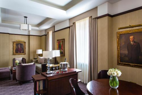 The lounge or bar area at The Beaumont Hotel