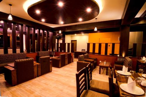 A restaurant or other place to eat at Mount View Pokhara