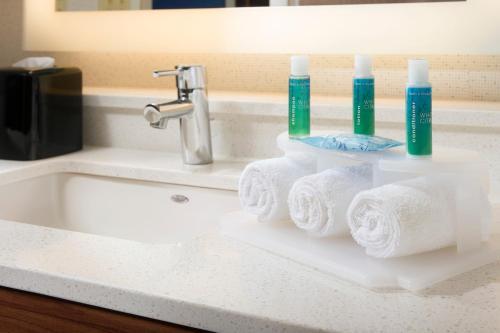 A bathroom at Holiday Inn Express & Suites by IHG Altoona, an IHG Hotel