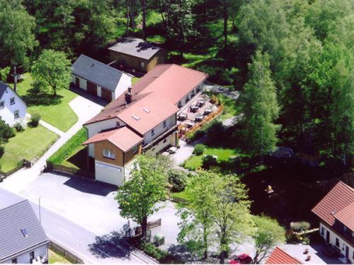 Blick auf Landgasthaus Birkenhof aus der Vogelperspektive