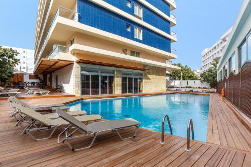 The swimming pool at or close to Athena Hotel