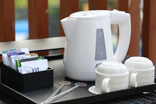 Coffee and tea making facilities at Mercure Bali Nusa Dua