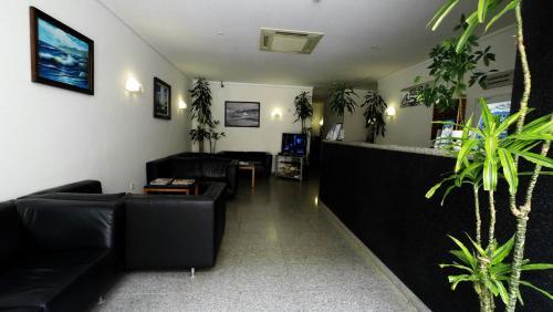 The lobby or reception area at Apartamentos Turísticos Vila Praia