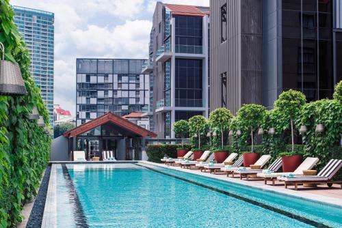 The swimming pool at or close to M Social Singapore (SG Clean, Staycation Approved)
