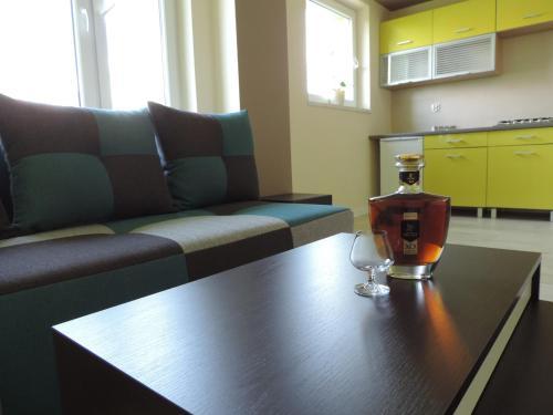 Część wypoczynkowa w obiekcie Apartament Green