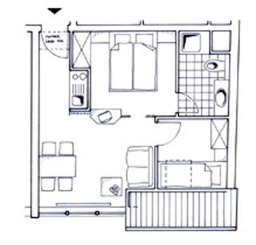Grundriss der Unterkunft Strandburg Juist - Apartment 301 (Ref. 50969)