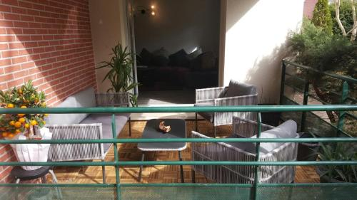A porch or other outdoor area at Cite Espace Apartment