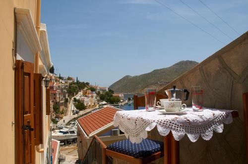 A balcony or terrace at Athina Studios