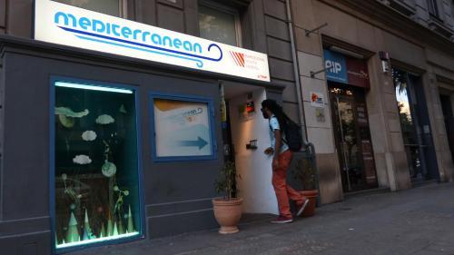 The facade or entrance of Mediterranean Hostel Barcelona