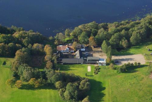 Et luftfoto af Borbjerg Mill Inn