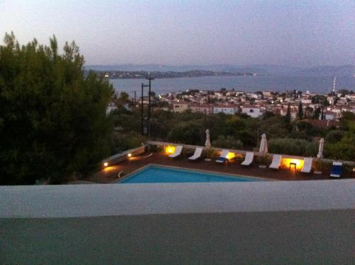 A general view of Spetses or a view of the city taken from the villa