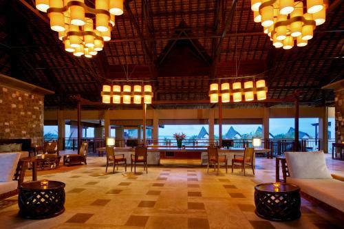 Restaurant ou autre lieu de restauration dans l'établissement Angsana Balaclava Mauritius