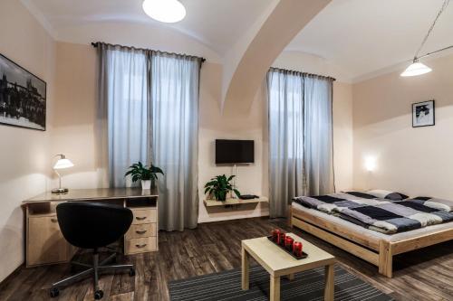 Ein Zimmer in der Unterkunft Accommodation Smečky 14