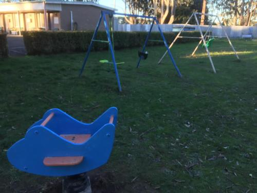 Children's play area at Woodmans Hill Motel