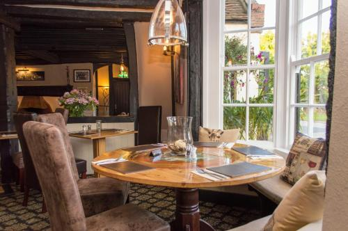 The lounge or bar area at The Bell Inn