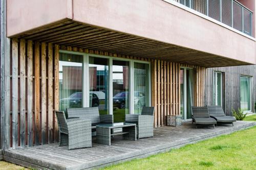 Siseõu või muu väliala majutusasutuses Kuressaare Marina Apartment