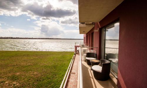 Un balcon sau o terasă la Maria Residence Serviced Apartments Mamaia