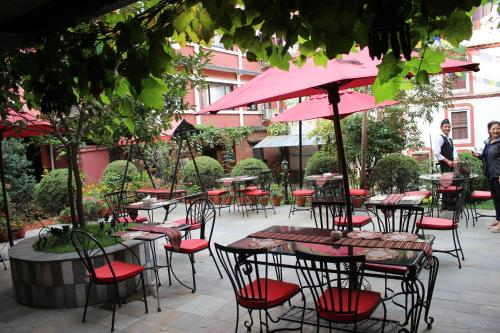 A restaurant or other place to eat at Hotel Encounter Nepal & Spa