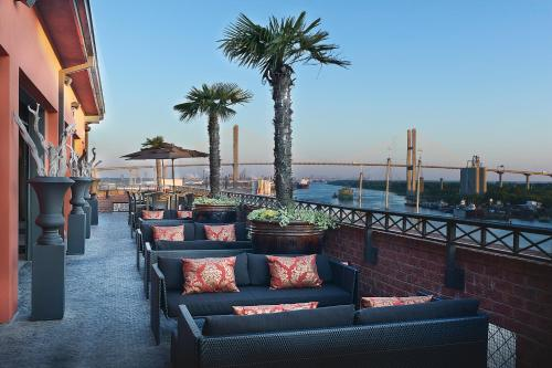 A porch or other outdoor area at The Bohemian Hotel Savannah Riverfront, Autograph Collection