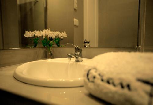 A bathroom at Hotel Gran Palma Huancayo