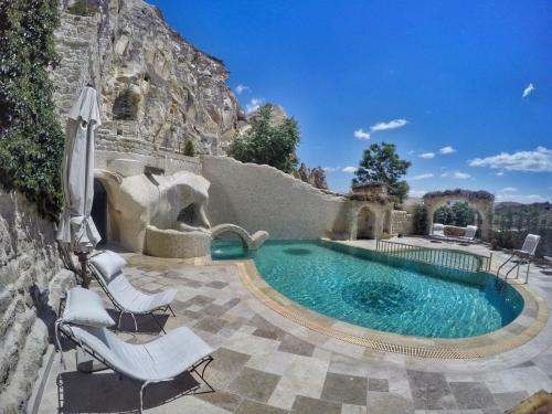 The swimming pool at or near Yunak Evleri Cappadocia