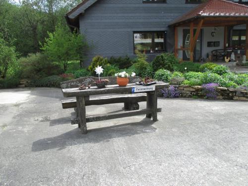 Ein Patio oder anderer Außenbereich in der Unterkunft Ferienwohnung an der Lay