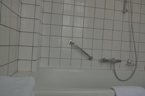 A bathroom at In den Roden Leeuw van Limburg