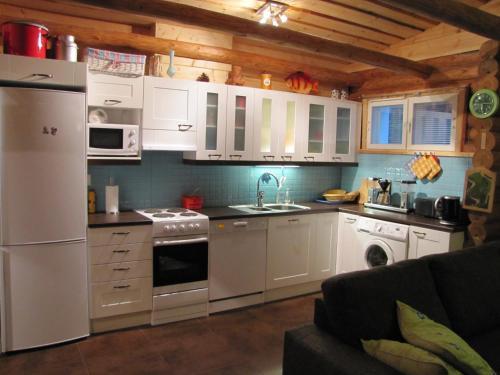 A kitchen or kitchenette at Kaijonselän mökit Pyhitty