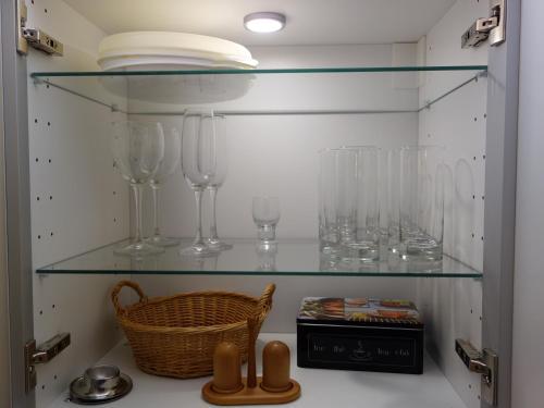 A kitchen or kitchenette at Nürnberg Apart - Business Apartment