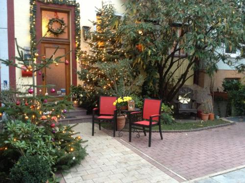 A patio or other outdoor area at Design-Boutique Hotel Vosteen
