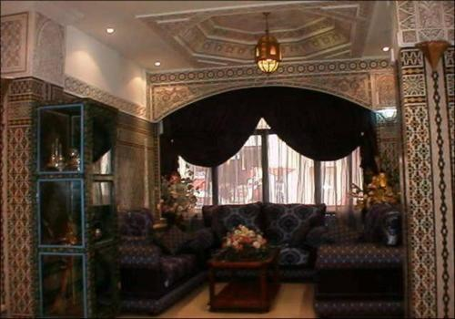 A seating area at Hotel Mounia