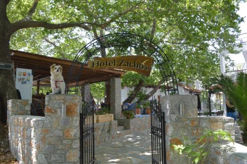 The facade or entrance of Hotel Zachos