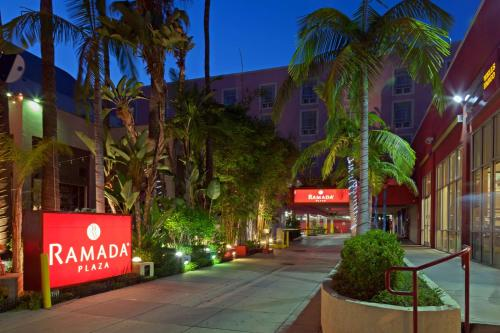 The facade or entrance of Ramada Plaza by Wyndham West Hollywood Hotel & Suites