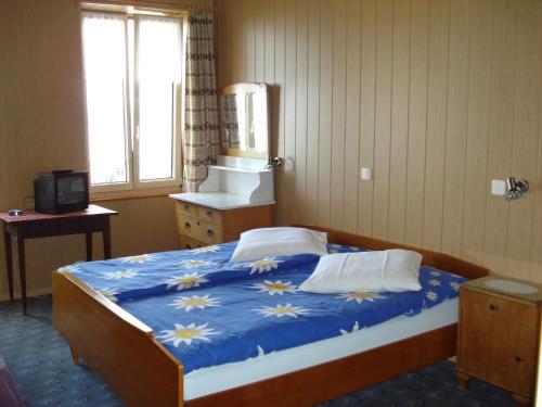 Ein Bett oder Betten in einem Zimmer der Unterkunft Les Tilleuls