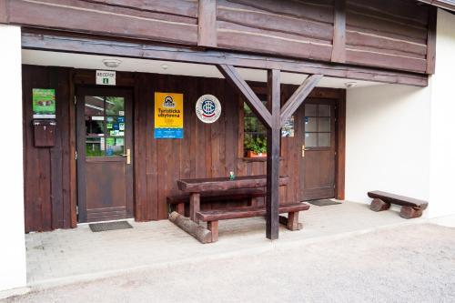 Patio nebo venkovní prostory v ubytování Turisticka ubytovna Cakle