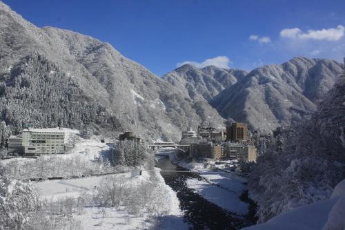 Osake no Oyado Kisen during the winter