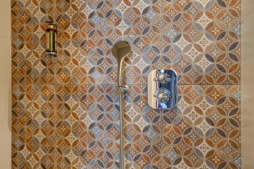 A bathroom at Hotel Muguet
