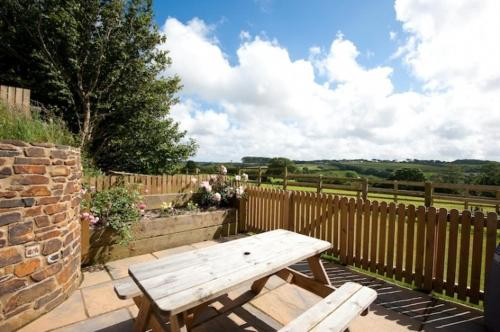 A porch or other outdoor area at The Linhay
