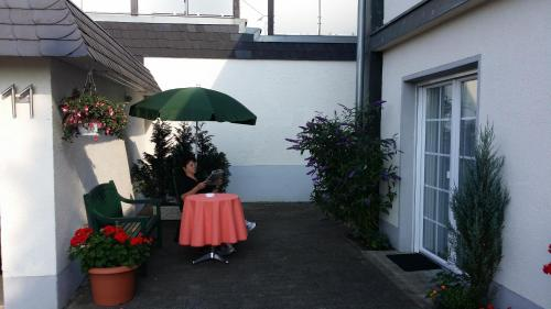 A patio or other outdoor area at Ferienwohnung Hack