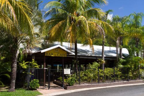 The facade or entrance of Port Douglas Plantation Resort