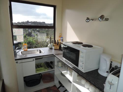 A kitchen or kitchenette at Waiheke Island Tawa Lodge - Adults Only