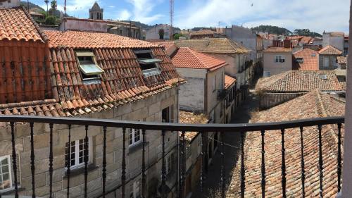 A balcony or terrace at Hotel Bayona