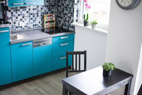 Küche/Küchenzeile in der Unterkunft Hoofer Apartments