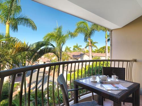 A balcony or terrace at Oaks Sunshine Coast Oasis Resort