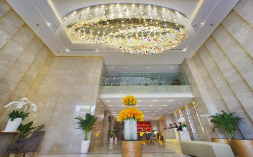 The lobby or reception area at Rosaka Nha Trang Hotel