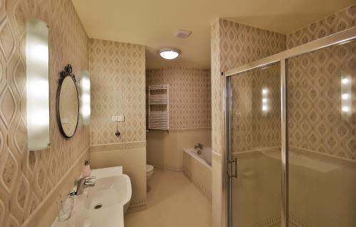 Łazienka w obiekcie Miły Młyn
